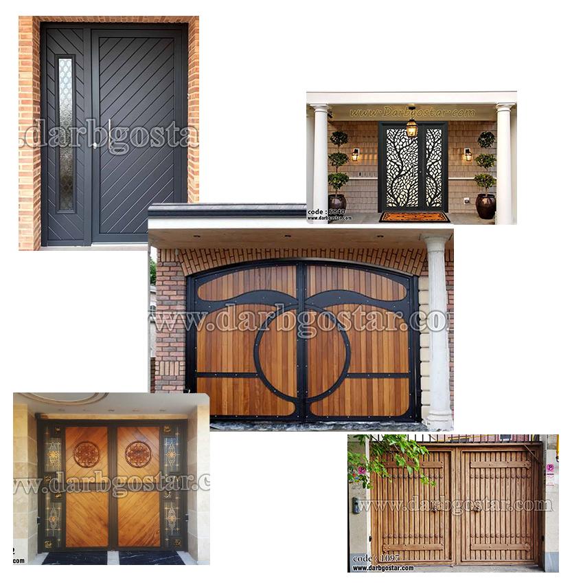 طراحی و ساخت درب ساختمانی فلزی و تلفیق فلز، چوب و شیشه